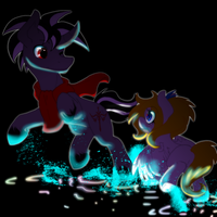 Frolic and Rayo by ThaMutt