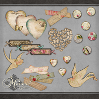 Shabby Chic Elements by DaydreamersDesigns