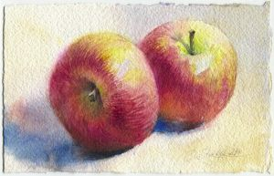 Two apples by OlgaSternik