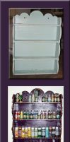 A shelf for my paints, before and after by Vivienne-Mercier