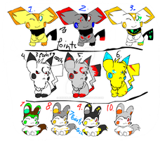 Adoptables_Points and some not by knucklesOrigins