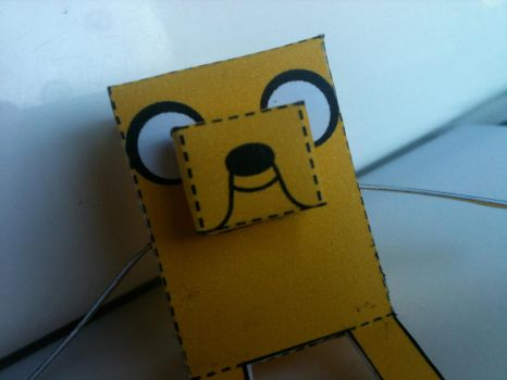 Adventure Time Jake the Dog papercraft by spacemonkeysunited