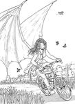 Succubus in a bike by Shabazik