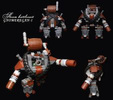 LEGO.Steam battlesuit GNOMEREGAN-1 by DwalinF