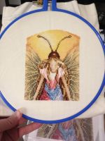 Day Fairy Cross Stitch WIP by Queen-Rini