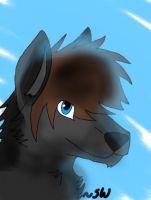 Grey portrait .:Speedpaint:. by SweetWolf1
