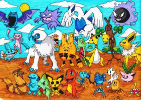 Pokemon coloured by Carlie-NuclearZombie
