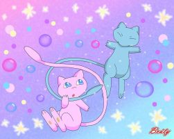 Pink and Shiny Mew by Rose-Beuty