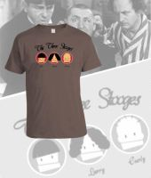 The Three Stooges tshirt by memix62