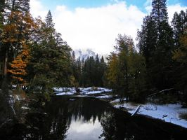 Snowy Autumn in Yosemite IV by Synaptica