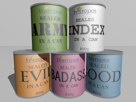 Sealed Tropes In Cans by Roxor128