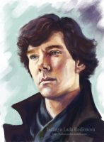 Thoughtful Sherlock by ladunya