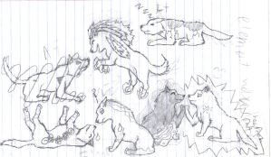 element wolves sketch WIP now by SilverSheCat