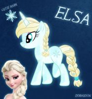 Elsa Pony From Frozen (No Capes No Shoes) by Doragoon