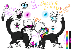 Dolly and LLoyd Ref Sheet by Yo-Angie