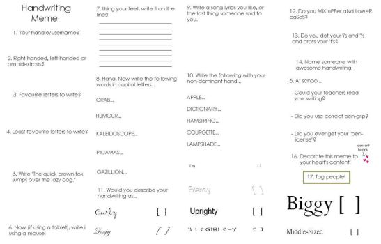 handwriting meme by anh1l1at1on