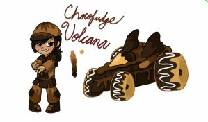 Sugar Rush OC: Chocofudge Volcana by jazzprowl2