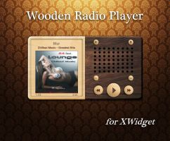 Wooden Radio Player for xwidget by jimking