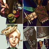 The Steampunk Artist - Details by ghostfire