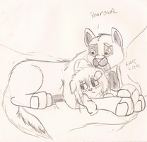 Your Safe Now Little One. by wasfight17