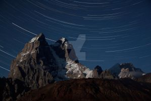 Ushba in the night, Caucasus by jaroslavnisler