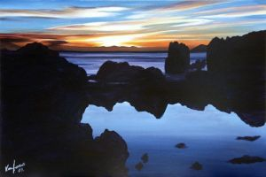 Island Bay Sunset 2 by karlandrews
