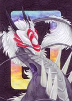 ACEO Xchange - Black Diaraiki by BloodhoundOmega