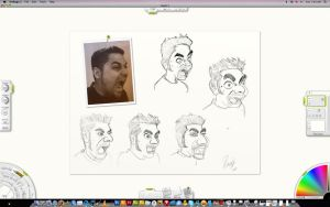 cartoon heads study by ibrahx