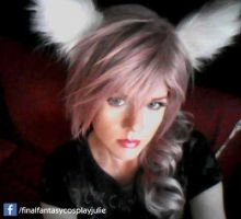 Lightning Miqo'te hair and makeup test by FinalFantasyCosplays