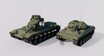 The M551 Sheridan and the M60A2 Patton Starship by TheoComm