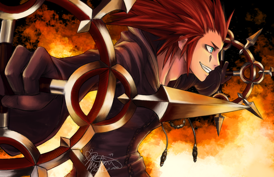 Axel, the Flurry of Dancing Flames by PokuriMio