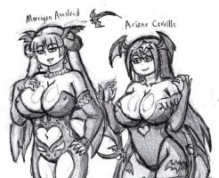 Morrigan and Ariane costume switch by Brian12