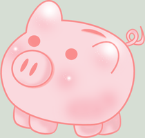 Kawaii Piggy Bank by Chocoholikitty
