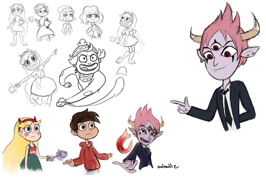 Star vs the forces of evil sketchdump by owlmaddie