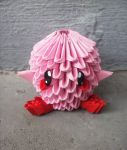 Chibi Kirby - 3D origami by SophieEkard