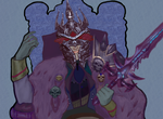 Hans the Lich King by MolemanNineThousand