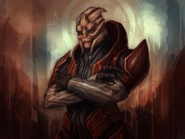Turian guy by Dandzialf