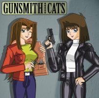 Tea and Serenity as Rally and May in Gunsmith Cats by Duel-Monsters
