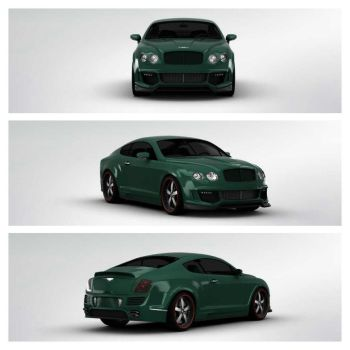Bentley Continental GT 3Dtuning by TheMustang24