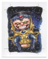 MODOK - Marvel 75th Anniversary SketchCard by Erik-Maell