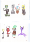 Water color monsters by Envy-is-my-god
