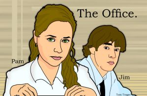 The Office: Pam And Jim by TomTrager