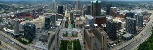 St. Louis from the Arch by purplemur