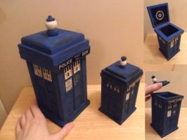 Doctor Who Tardis Boxes by kayanah