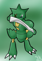 One Eye'd One Arm'd Scyther by Mew-tew