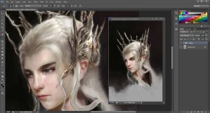 Lady Thranduil WIP by merkymerx