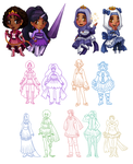 Magical Girls OCs by Silver-Day