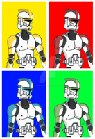 Troopers - Now with Colour! by OtakuRavage