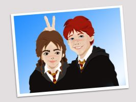 snapshot of ron n hermione by yethro