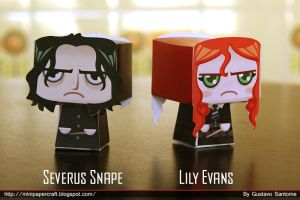 Severus snape and lily Evans by Gus-Santome